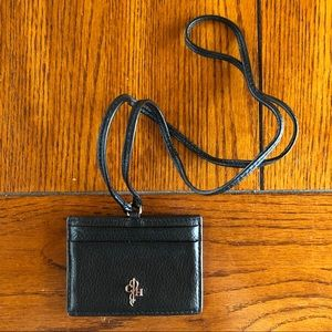 NWOT Cole Haan Leather ID & Card Case with Lanyard
